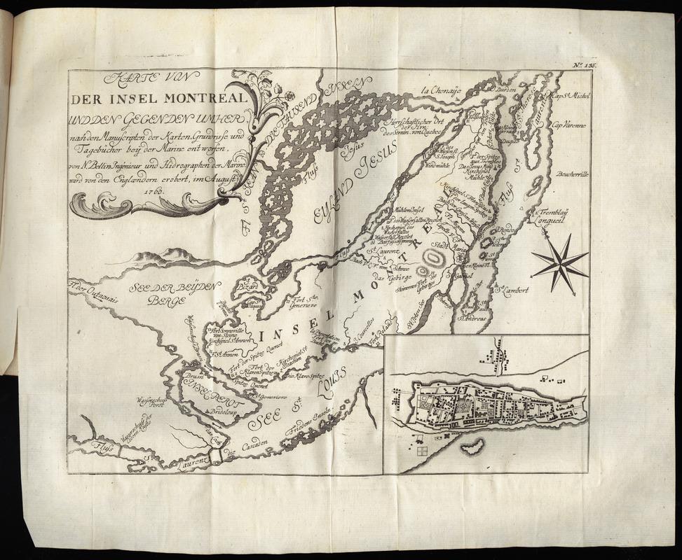 Carte de Montréal de 1777 en allemand
