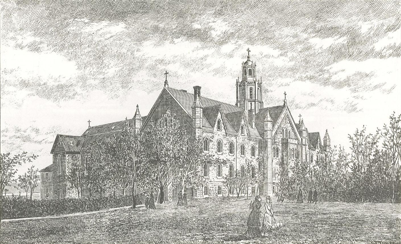 Gravure du couvent du Sacré-Cœur de 1878