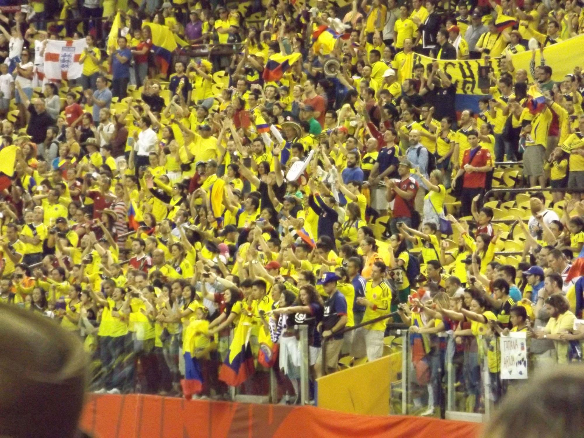 Les Colombiens sont nombreux au match du soccer au Stade olympique le 17 juin 2015.