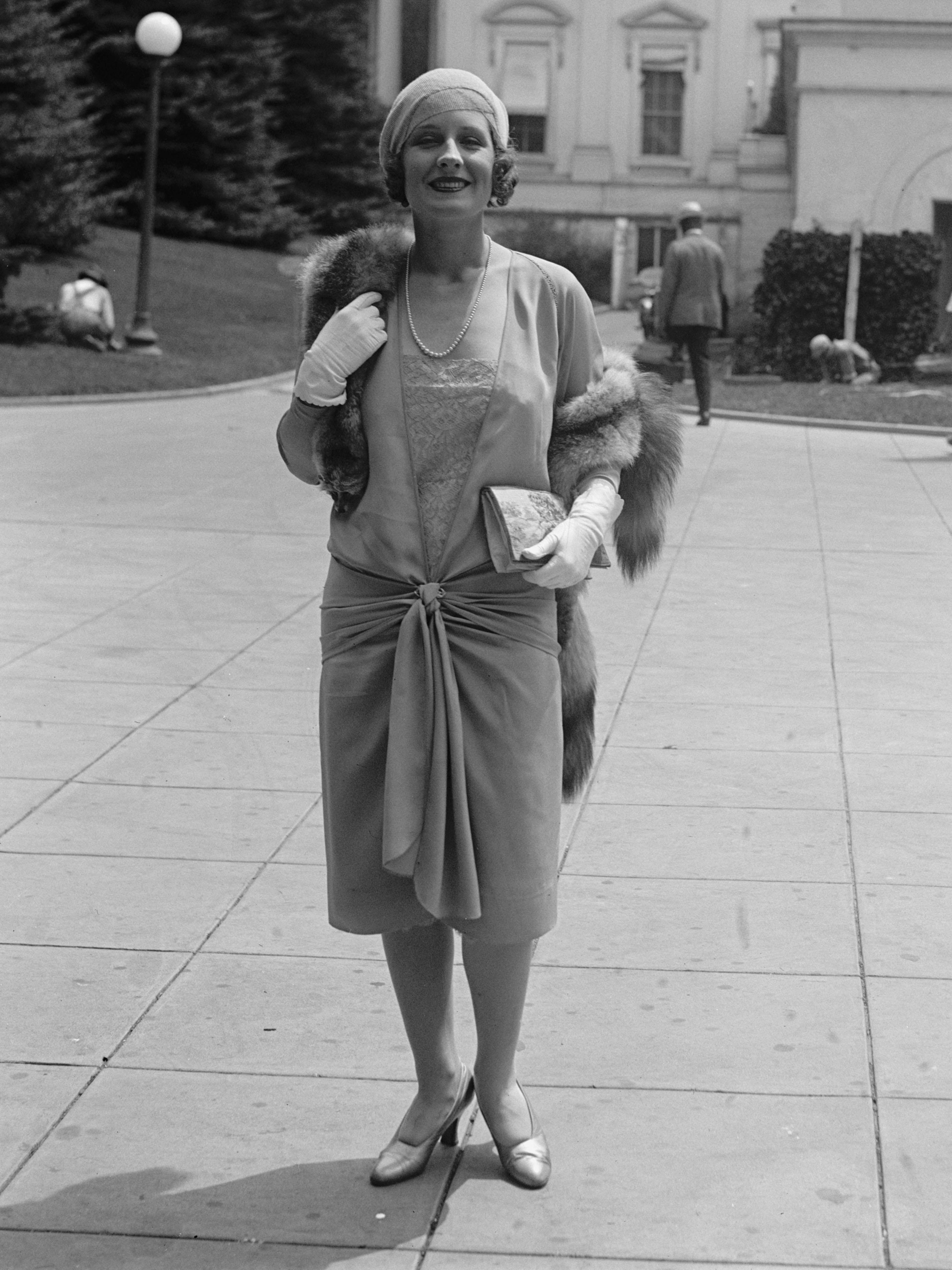 Portrait d'une femme dans les années 1920.