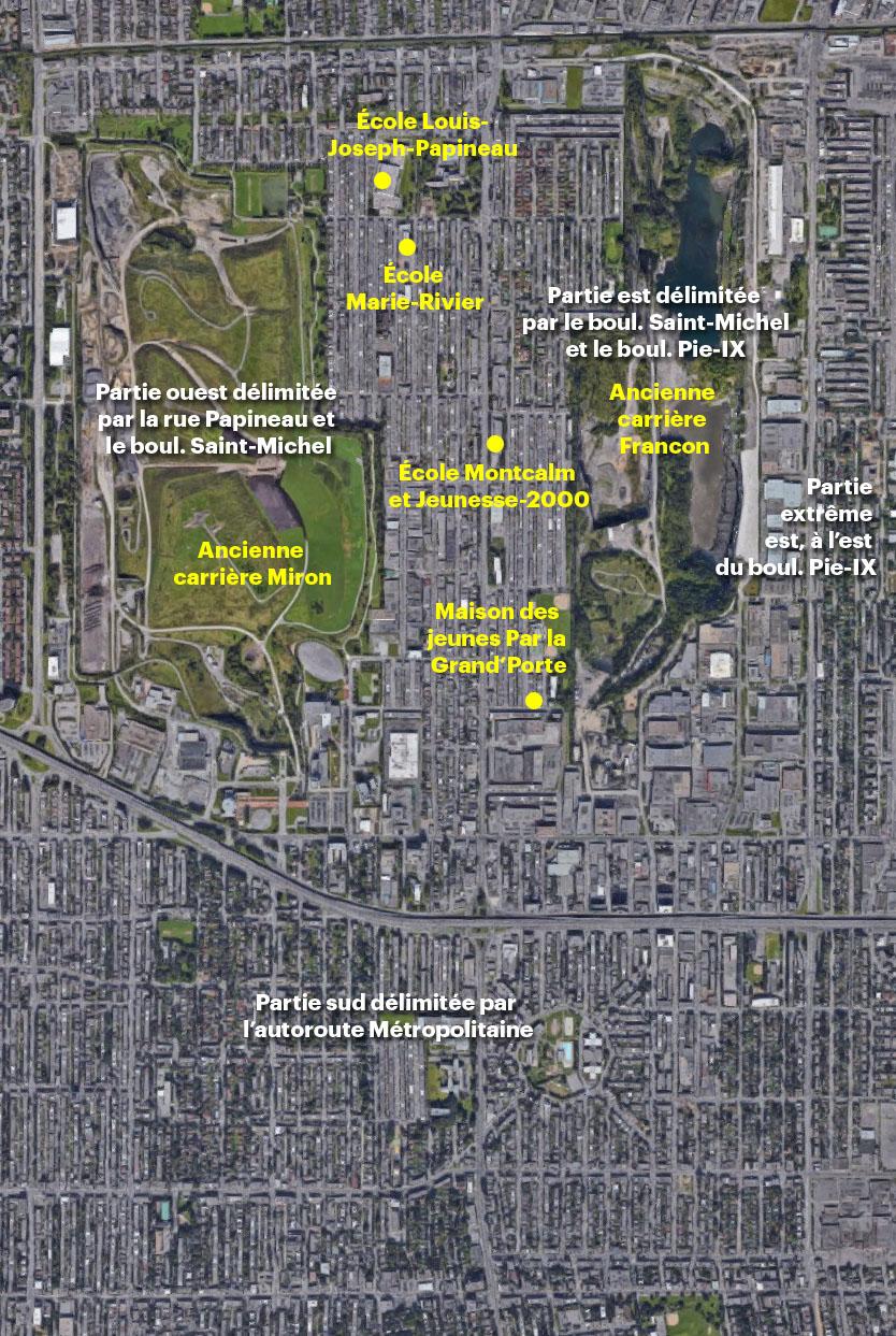 Vue aérienne du quartier Saint-Michel