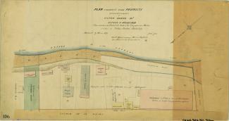 Plan figuratif d'une propriété appartenant à Victor Hudon présentant les lots no 34 à 38 du cadastre du village d'Hochelaga