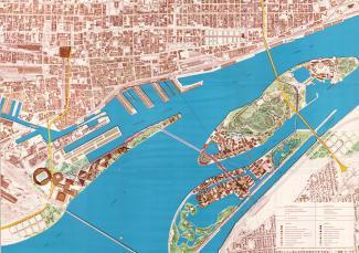 Premier plan directeur d'Expo 67 en décembre 1963
