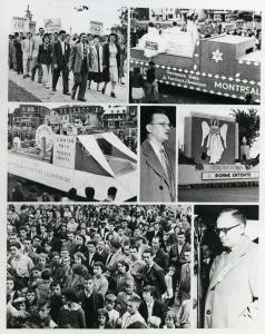 Photos prises à la fête du travail à Valleyfield en 1951.
