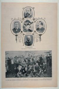 Page de Le Monde illustré montrant la fête des vétérans Français de Montréal en 1901