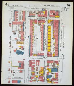 Plan montrant le quartier où est située l'église Evangelismos