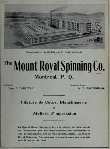 Affiche annonçant l'ouverture prochaine, en 1908, de la filature de coton au coin des rues Saint-Patrick et Saint-Paul.