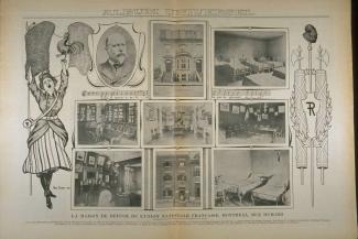 Page de L'album universel sur la maison de refuge de l'Union nationale française