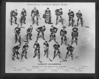 Photo de l'équipe 1934-1935 des Maroons de Montréal.
