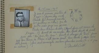 Commentaire d'un visiteur dans le livre de signatures d'