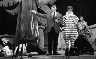 Paul Buissonneau et Yvon Deschamps sur scène
