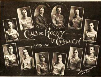 Photo de l'équipe 1909-1910 du Canadien de Montréal.