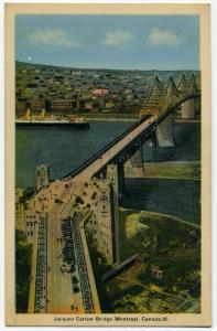 Carte postale du pont Jacques-Cartier