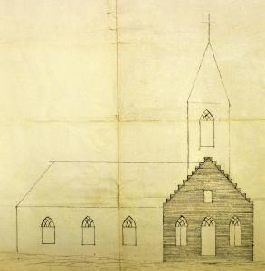 Croquis d'une chapelle