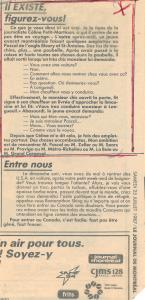 """Coupure du Journal de Montréal portant le titre """"Il existe, figurez-vous!"""""""