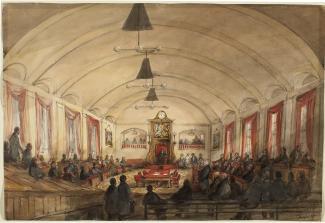 Chambre de l'Assemblée législative vers 1848.