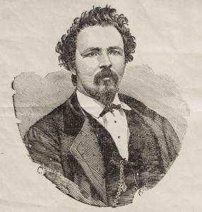 Portrait buste illustré de Charles McKiernan