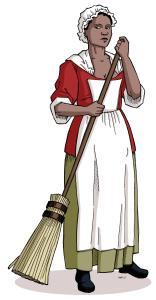 Illustration représentant l'esclave noire Marie-Josèphe-Angélique
