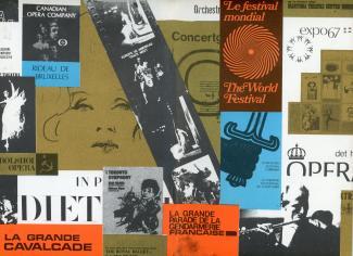 Page couverture d'une brochure promotionnelle du Festival mondial