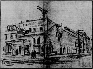 Illustration de la façade du théâtre Nationoscope
