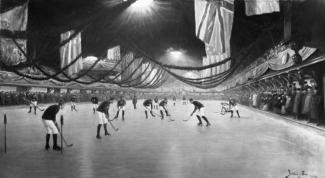 Un match de hockey à la patinoire Victoria de Montréal en 1893.