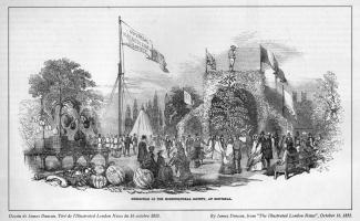 Exposition horticole au Jardin Guilbault en 1852