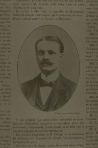 Portrait de Julien D'Aoust en 1901.