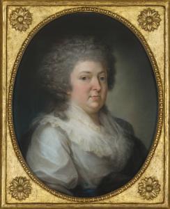 Peinture d'une baronne vers 1795