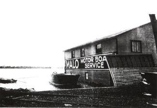 Le hangar de bateaux Malo au quai de Lachine.