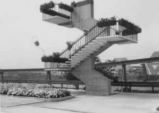 Escalier d'observation sur le site d'Expo 67