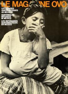 Page couverture de Magazine OVO, numéro sur les réfugiés guatémaltèques au Mexique