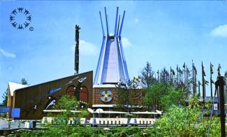 Pavillon des Indiens du Canada à Expo 67 sur l'île Notre-Dame.