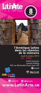 Affiche d'un colloque organisé par LatinArte
