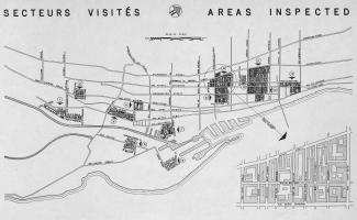 Carte des zones de taudis du rapport Dozois montrant plus en détail le secteur du Red Light.