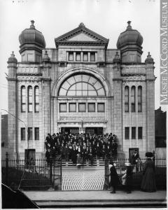 Synagogue Chevra Kadisha, coin des rues Saint-Urbain et Sainte-Catherine, Montréal.