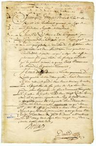 Ordonnance de François Marie Bouat, conseiller du roi et lieutenant général de la juridiction royale de Montréal, du 10 mai 1721