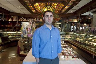 Vasilios Karagiannidis dans sa boulangerie