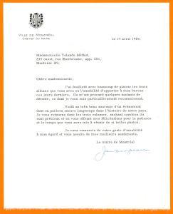 Sur la dernière page du troisième album personnalisé, une lettre de Jean Drapeau datée du 17 avril 1969