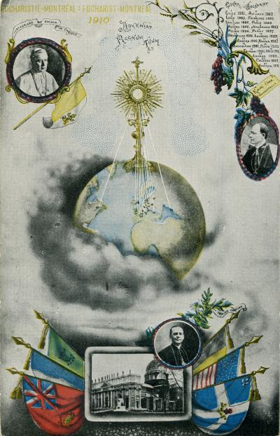 Carte postale du Congrès eucharistique de Montréal en 1910