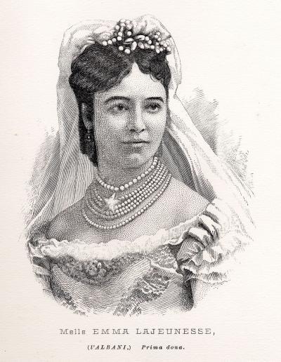 Estampe d'Emma Albani