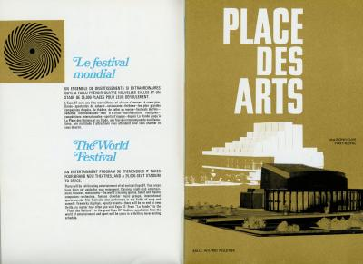 Pages intérieures d'une brochure promotionnelle sur le Festival mondial