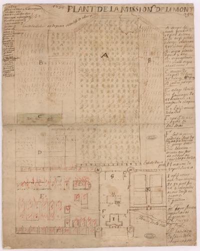 Plan de la mission de la montagne en 1694