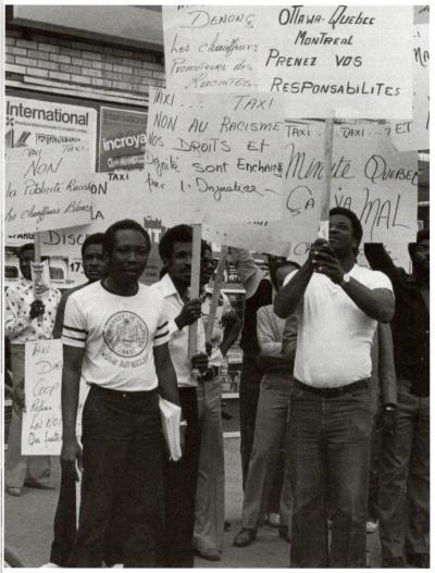 Manifestation de chauffeurs de taxi haïtiens