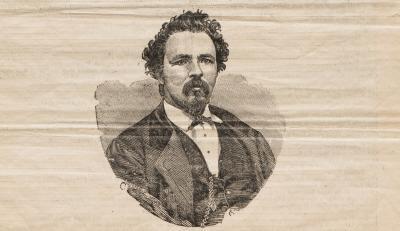 Portrait buste illustré de Charles McKiernan dit Joe Beef