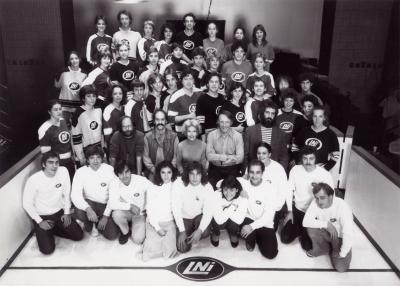 Photo de groupes de la LNI dans les années 1980.