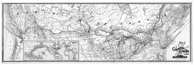 Plan du chemin de fer du Canadien Pacifique traversant tout le Canada