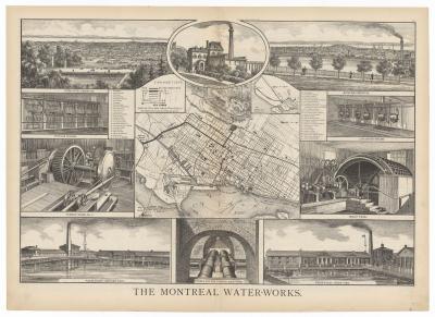 Le réseau d'aqueduc de Montréal en 1879.