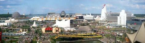 Vue panoramique du site d'Expo 67.