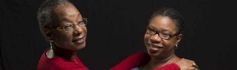 Portrait d'une mère et de sa fille d'origine haïtienne