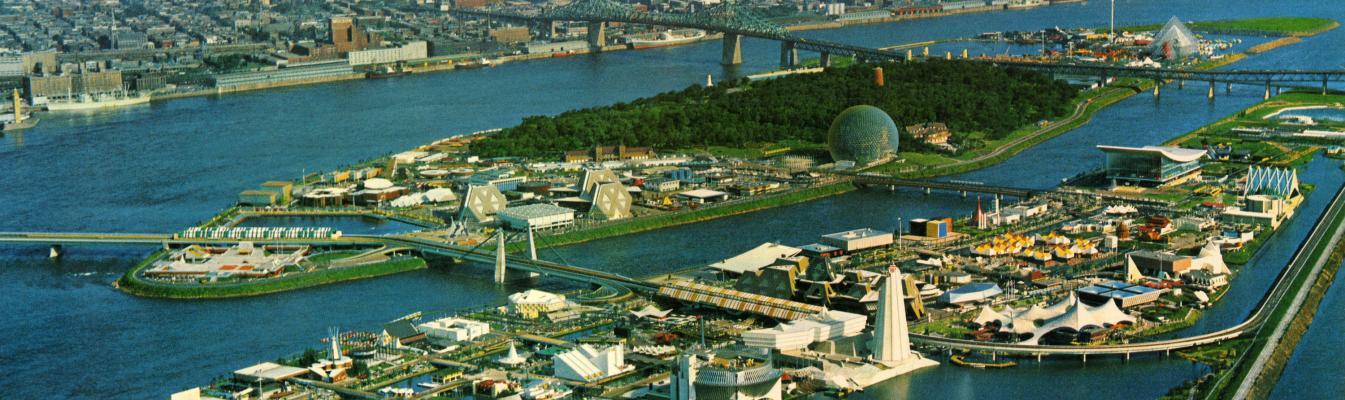 Vue aérienne du site d'Expo 67
